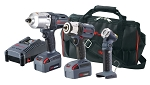 Ingersoll Rand IQV20-3022, 2 Piece IQV20 - 1/2in Impact Wrench and 3/8in Impact Wrench Kit and Task Light