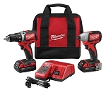 Milwaukee 2798-22CT, 2 Piece M18 Compact Brushless Drill And Brushless Impact Combo Kit