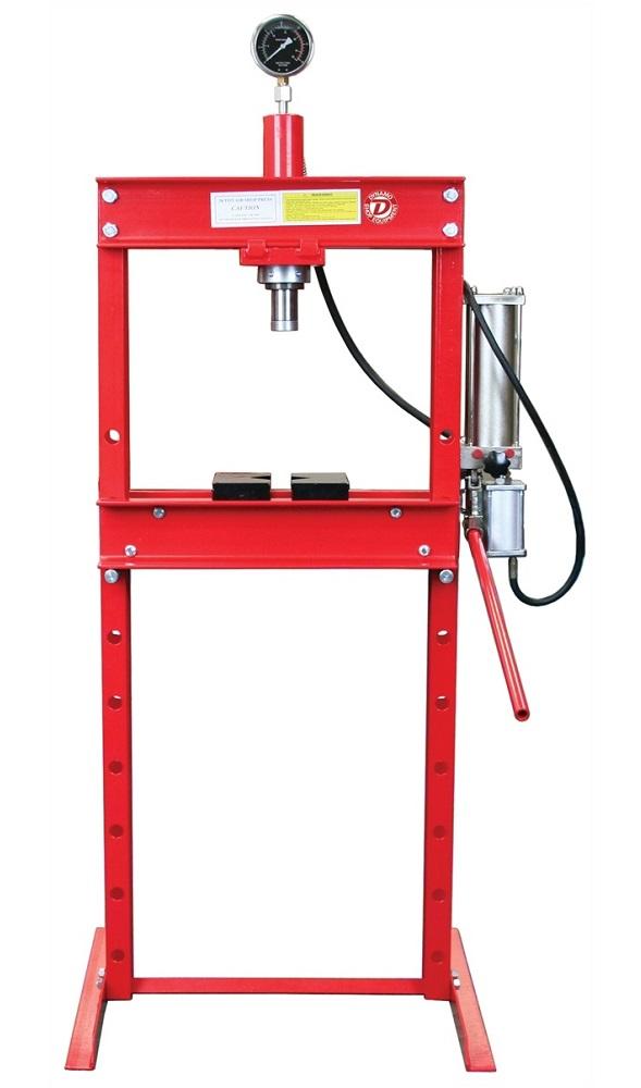 Dynamo Tools HT0805, 20 Ton Air/Hydraulic Shop Press with Gauge