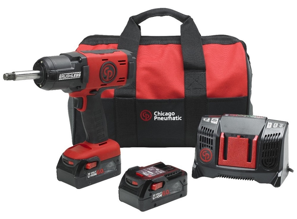 1 2 Cordless Impact >> Chicago Pneumatic Cp8849 2 Pack 6 0ah 1 2in Drive Cordless Impact Wrench Kit With 2in Anvil