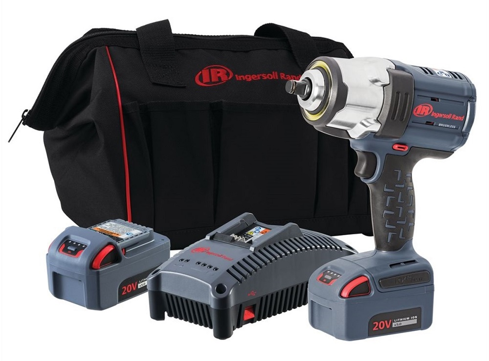 High Torque Cordless Impact Wrench Kit With Two Batteries Click Image To Enlarge