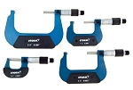 Central Tools 3M114, 4 Piece Conventional Micrometer Set