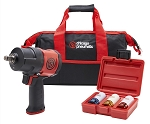 Chicago Pneumatic CP7748, 1/2in Drive Composite Impact Wrench with 3 Piece Wheel Socket Set and Bag