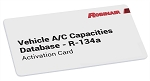 Robinair 34001, R134A Vehicle A/C Capacities Database Activation Card - 2020