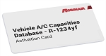 Robinair 34002, R1234YF Vehicle A/C Capacities Database Activation Card - 2020