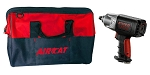 AIRCAT 1250-KBAG, NitroCat 1/2in Drive Kevlar Composite Air Impact Wrench with Bag