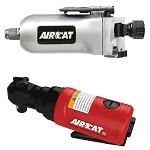 AIRCAT 1320/807, 3/8in Butterfly Air Impact Wrench Mini - Air Ratchet Kit