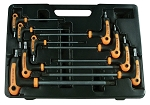 Astro Pneumatic 1023, 9 Piece T-4 Handle Tamper Star and Key Wrench Set
