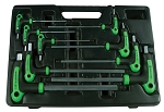 Astro Pneumatic 1025, 9 Piece SAE T-4 Handle Ball Point and Hex Key Wrench Set