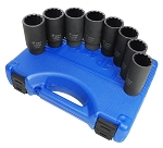 Astro Pneumatic 78868, 8 Piece 12-Point Axle Nut Socket Set