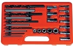 Astro Pneumatic 9447, 25 Piece Screw Extractor / Drill and Guide Set