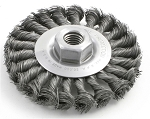Brush Research BTS-8.014, 6in Wire Wheel Brush - .014 Wire 3/4in Arbor
