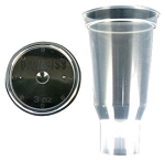 DeVilbiss 803510, DPC-503-K24 3 Oz Disposable Cup and Lid (Qty 24)