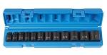 Grey Pneumatic 1202, 3/8in Drive 12-Point Standard Length Fractional Socket Set