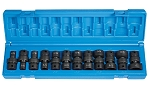 Grey Pneumatic 1212U, 12 Piece 3/8in Drive 6 Point Fractional Universal Impact Socket Set