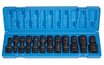 Grey Pneumatic 1212UD, 3/8in Drive Deep Length Fractional Universal Socket Set