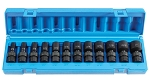 Grey Pneumatic 1212USD, 12 Piece 3/8in Drive Semi Deep SAE Universal Impact Socket Set