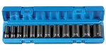 Grey Pneumatic 1213SD, 12 Piece 3/8in Drive Semi Deep 6 Point SAE Impact Socket Set