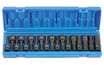 Grey Pneumatic 1598HC, 18 Piece 1/2in Drive Combo Hex Fractional and Metric Impact Socket Set