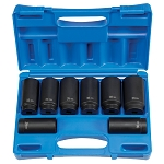 Grey Pneumatic 1708SN, 1/2in Drive - 12 Point - Axle/Spindle Nut Socket Set
