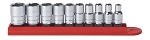 GearWrench 80303, 10 Piece 1/4in Drive 6 Point SAE Socket Set