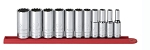 GearWrench 80563, 11 Piece 3/8in Drive 12 Point Deep SAE Socket Set