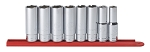 GearWrench 80705, 8 Piece 1/2in Drive 6 Point Deep SAE Socket Set