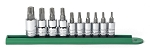 GearWrench 80722, 10 Piece Torx Press Fit (1/4in and 3/8in Drive) Bit Socket Set