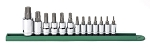 GearWrench 80723, 13 Piece 1/4in and 3/8in and 1/2in Drive Torx Press Fit Bit Socket Set