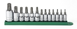 GearWrench 80725, 13 Piece 1/4in and 3/8in and 1/2in Drive Tamper Proof Torx Socket Set