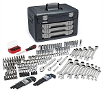 GearWrench 80944, 232 Piece 1/4in and 3/8in Drive Metric and SAE Socket and Ratchet Set