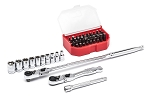 GearWrench 81032, 45 Piece 1/4in Drive 6 Point Standard Metric Slim Head Mechanics Tool Set