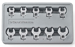 GearWrench 81909, 10 Piece 3/8in Drive Metric Crowfoot Wrench Set