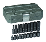 GearWrench 84900, 20 Piece 1/4in Drive 6 Point SAE Standard and Deep Impact Socket Set