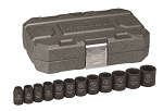 GearWrench 84931N, 12 Piece 1/2in Drive 6 Point SAE Impact Socket Set