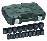 GearWrench 84932N, 19 Piece 1/2in Drive 6 Point SAE Impact Socket Set