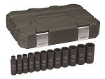GearWrench 84942N, 12 Piece 1/2in Drive 6 Point SAE Deep Impact Socket Set
