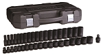 GearWrench 84947N, 39 Piece 1/2in Drive 6 Point SAE Standard and Deep Impact Socket Set