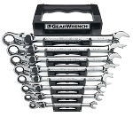 GearWrench 85798, 8 Piece SAE GearWrench XL Locking Flex Head Ratcheting Wrench Set