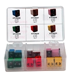 K Tool International 00045, Low Profile Jcase Fuse Assortment - 6 Different Amp Sizes - 12 Piece