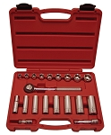 K Tool International 22000, 20 Piece 3/8in Drive SAE Socket Set