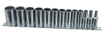 K Tool International 22401, 13 Piece 3/8in Drive 12 Point Deep SAE Socket Set