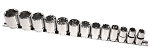 K Tool International 23110, 13 Piece 1/2in Drive SAE Shallow Socket Set