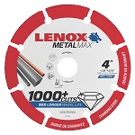 LENOX 1972921, Metal Max Angle Grinder Diamond Cutoff Wheel 4in x 5/8in
