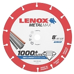 LENOX 1972925, Metal Max Circular Saw Diamond Cutoff Wheel 8in x 5/8in