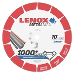 LENOX 1972926, Metal Max Stationary / Small Chop Saw Diamond Cutoff Wheel 10in x 5/8in