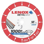 LENOX 1972927, Metal Max Chop Saw Diamond Cutoff Wheel 12in x 1in