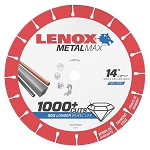 LENOX 1972929, Metal Max Chop Saw Diamond Cutoff Wheel 14in x 1in