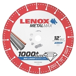 LENOX 1972930, Metal Max Gas Saw Diamond Cutoff Wheel 12in x 1in