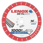 LENOX 1972932, Metal Max Gas Saw Diamond Cutoff Wheel 14in x 1in